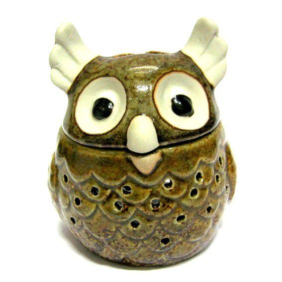 Аромалампа Сова керамика ( RamaYoga 10 см ) кувшинчик с сердечком аромалампа керамика 8х10 см без упаковки