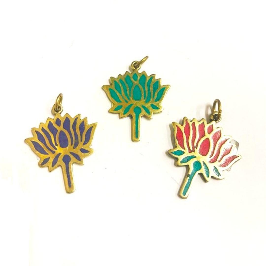 Кулон непальский цветок лотоса 3,5см