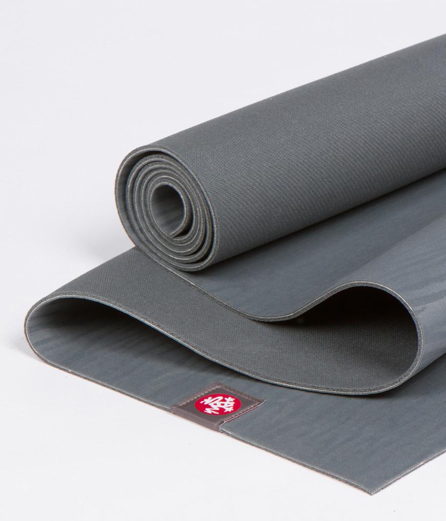 Коврик для йоги Manduka EKO Mat 5мм из каучука (3 кг, 180 см, 5 мм, серый, 66см (Thunder))