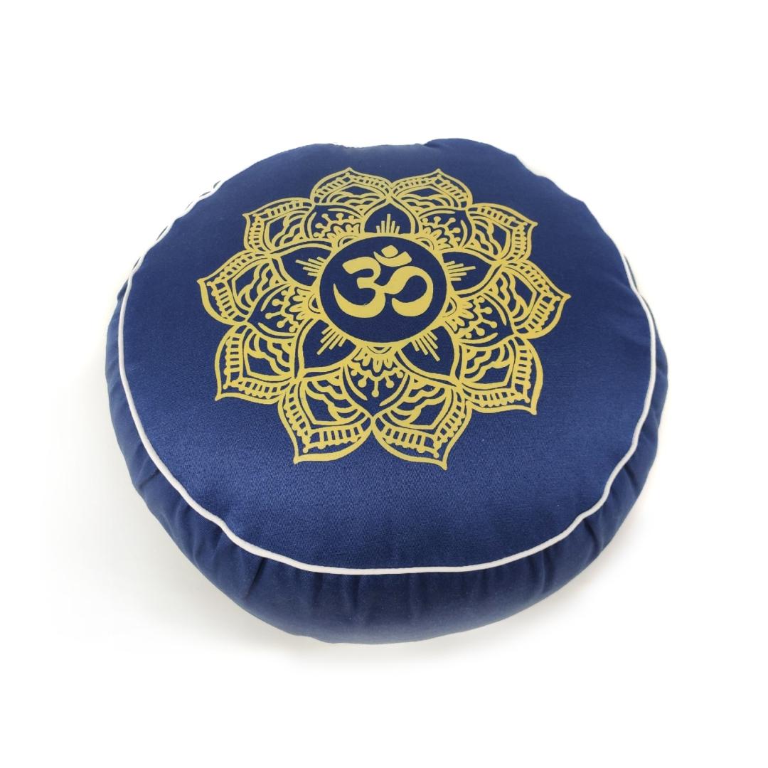 Подушка для медитации Ом Рамайога (2 кг, синий) подушка для медитации simple 2 5 кг зеленый