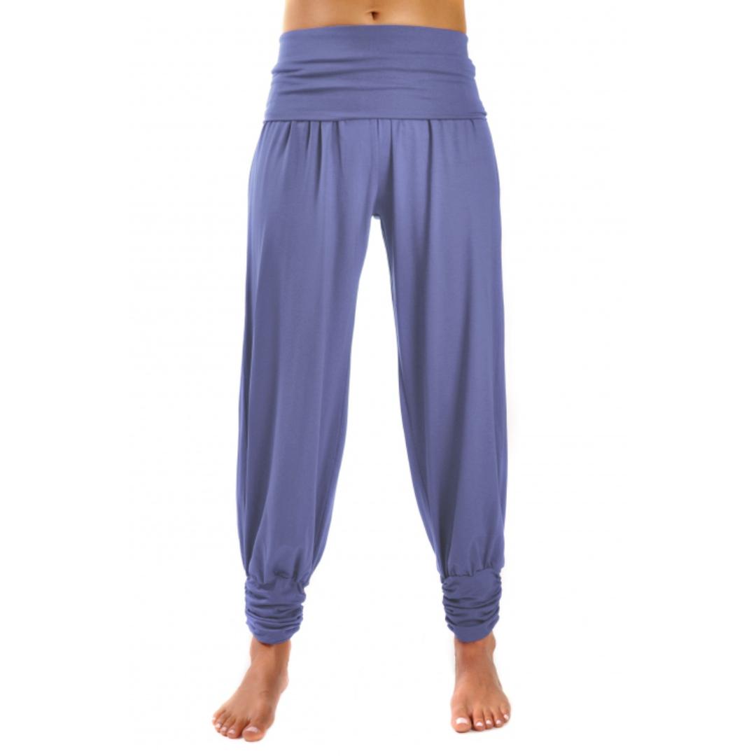 Штаны гаремы длинные черничные YogaDress (0,3 кг, XL (50), фиолетовый)