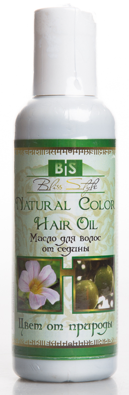 Масло для волос против седины цвет от природы natural color hair oil Indibird ( Bliss Style 150 мл ) platinum natural color 20 inches