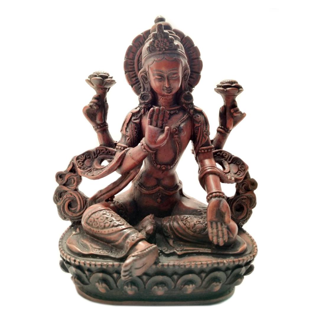 Статуя Лакшми из керамики 20см (0,3 кг)