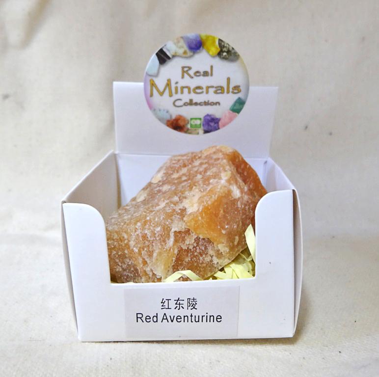 Авантюрин красный минерал/камень в коробочке Real Minerals Collection (Авантюрин красный) garmin gpsmap 7408xsv