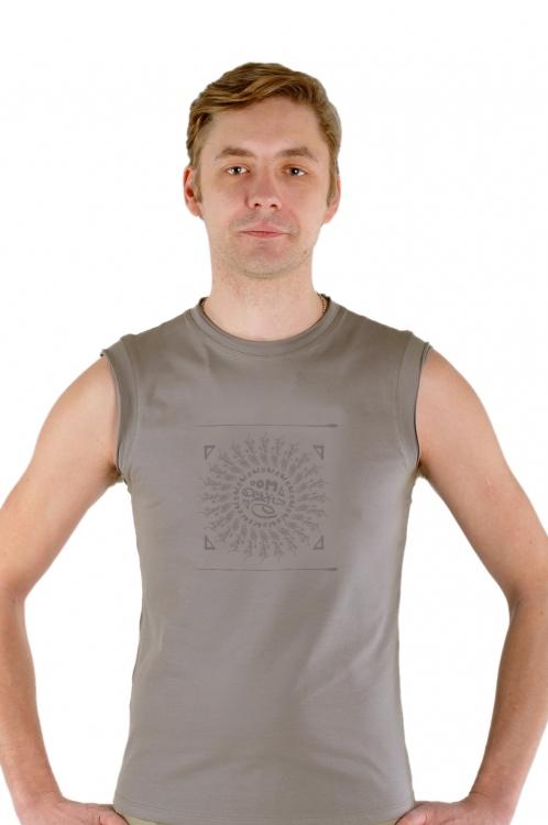 Майка мужская «Мантра» серо-бежевый YogaDress (S (46))