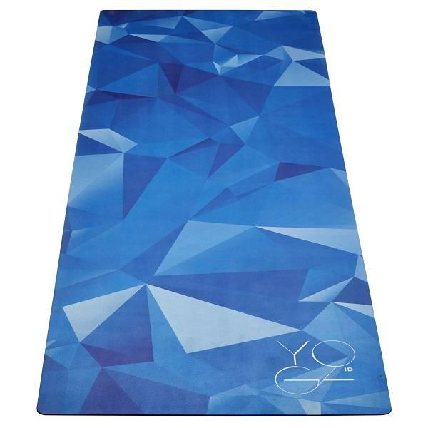 Коврик для йоги Antarctica ID из микрофибры и каучука (Нет, 2.5 кг, 173 см, 3 мм, голубой, 60 см) коврик для йоги jade harmony 5 мм из каучука 2 3 кг 173 см 5 мм оранжевый tibetan orange 60см