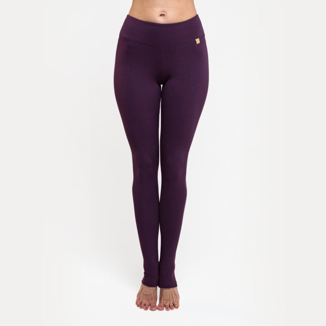 Тайтсы женские c открытой пяткой Miss Incredible черничные YogaDress (0,2 кг, L (48), фиолетовый)