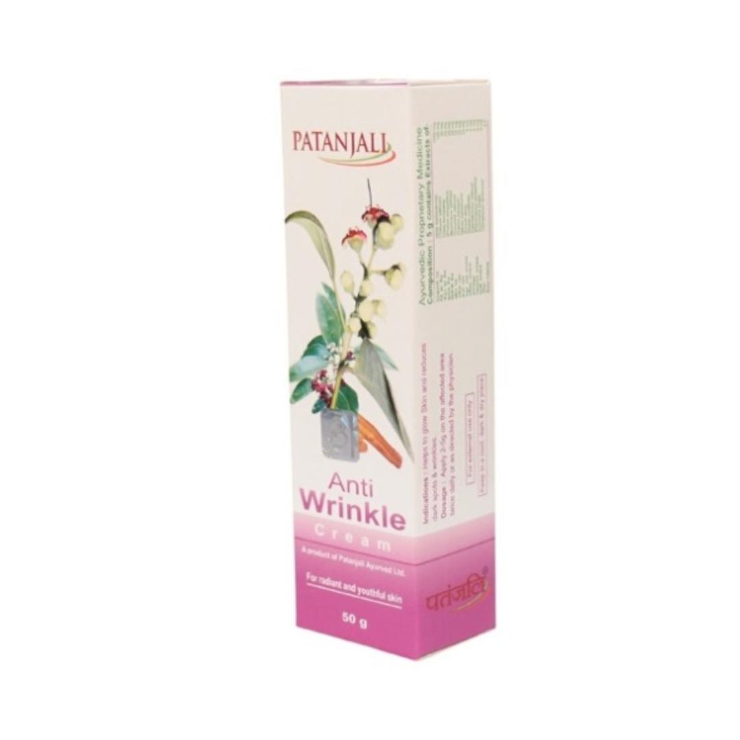 Крем против морщин anti wrinkle cream Patanjali (50 г)