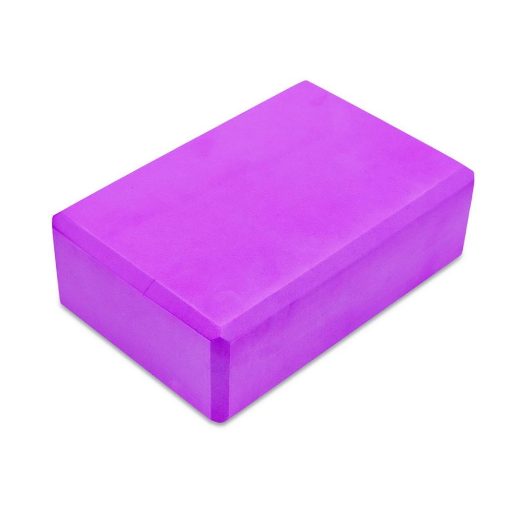 Кирпич для йоги из пены Рамайога (0,45 кг, 8 см, 23 см, фиолетовый, 15 см)