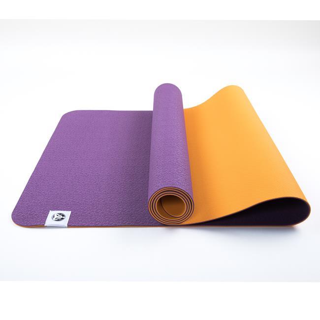 Коврик для йоги Лотос Light Рамайога (0.9 кг, 183 см, 4 мм, фиолетовый, 60 см) коврик для йоги асана стандарт 4мм 1 кг 185 см 4 мм фиолетовый 60см