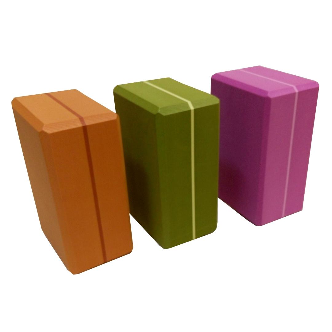 Кирпич для йоги из EVA-пены Yoga brick Supersize (10 см, 23 см, фиолетовый, 15 см)