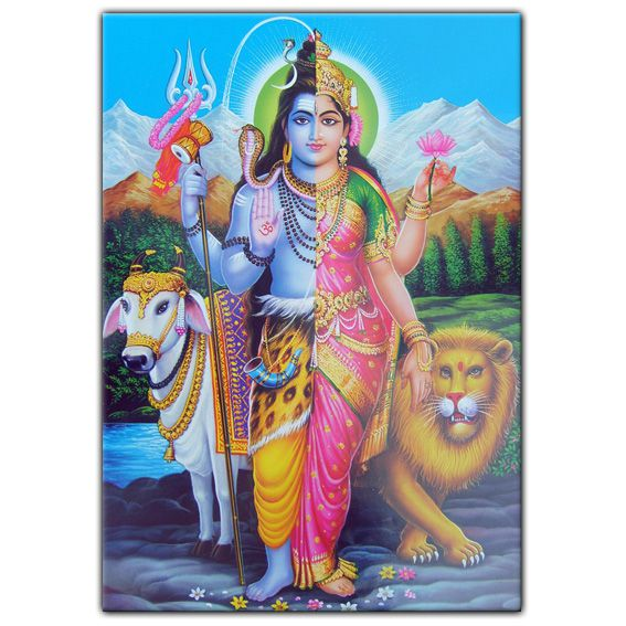 Магнит Шива-Шакти (Ардханарешвара) 10х7 (MI043 0,05 кг) браслет из аметиста фиолетовая полночь