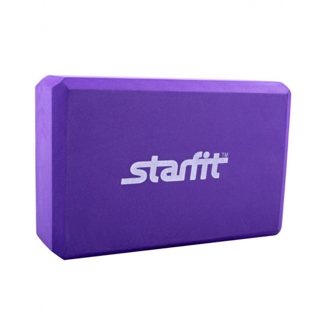Блок для йоги STAR из EVA  (0,3 кг, 7,8 см, 22,5 см, фиолетовый, 15 см)