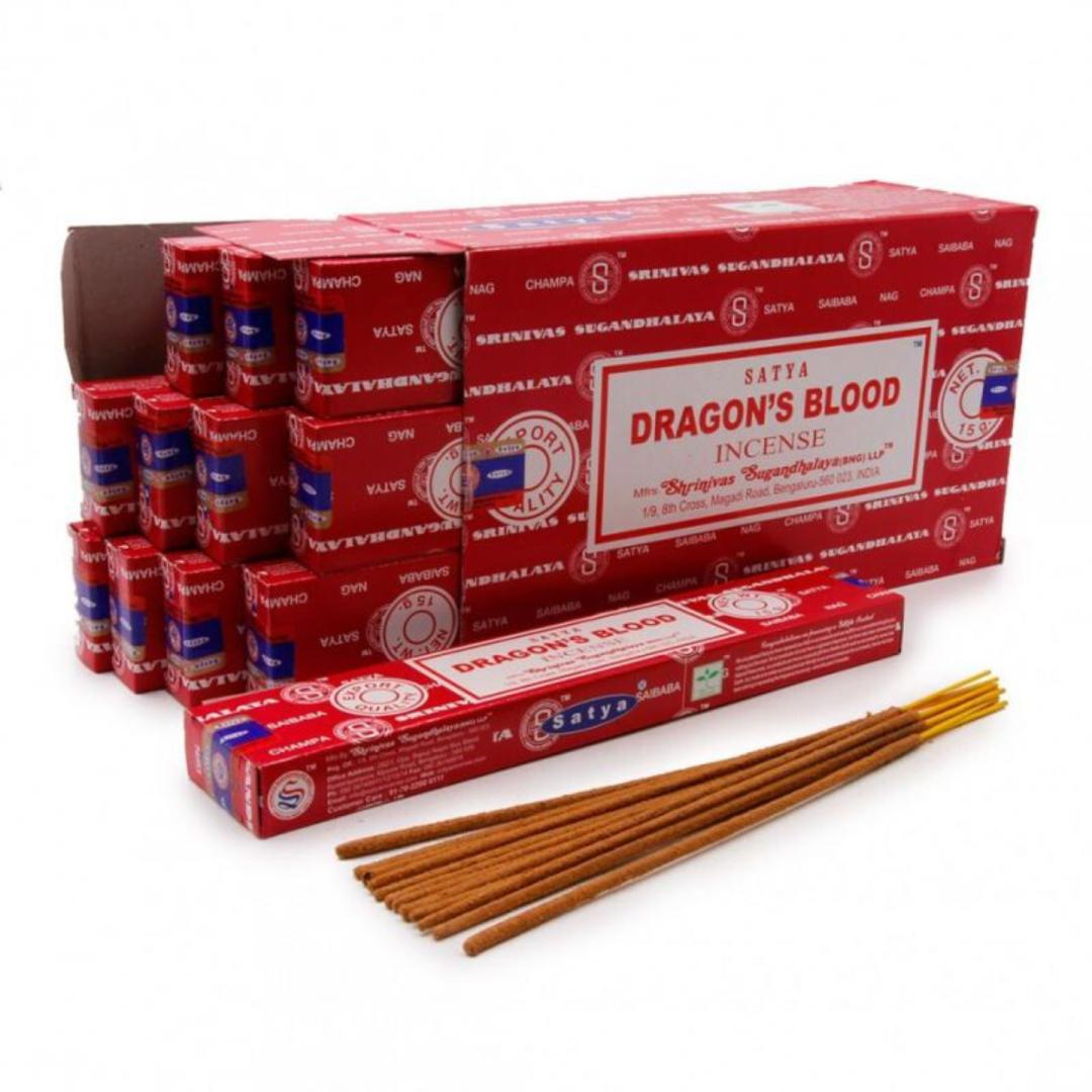 Благовония конусные кровь дракона Сатья / Dragons blood dhoop cones Satya (30 г)