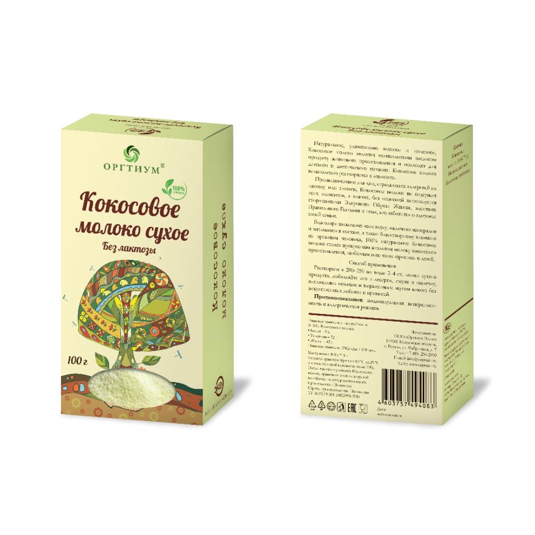 Кокосовое молоко сухое Оргтиум (100 г)