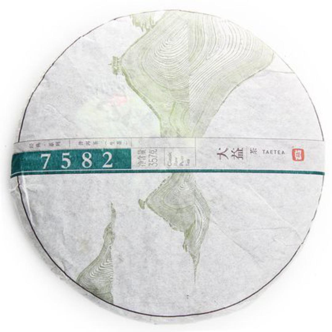 Пуэр прессованный шен taetea 7582 блин 357 г (350 г) подставка под блин пуэра большая пластик