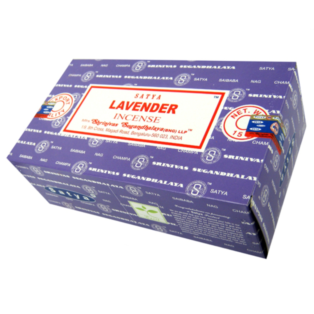 Благовоние Lavender Satya, серия incense (15 г) благовоние snow lion tibetian incense 50 шт 0 05 кг 13см