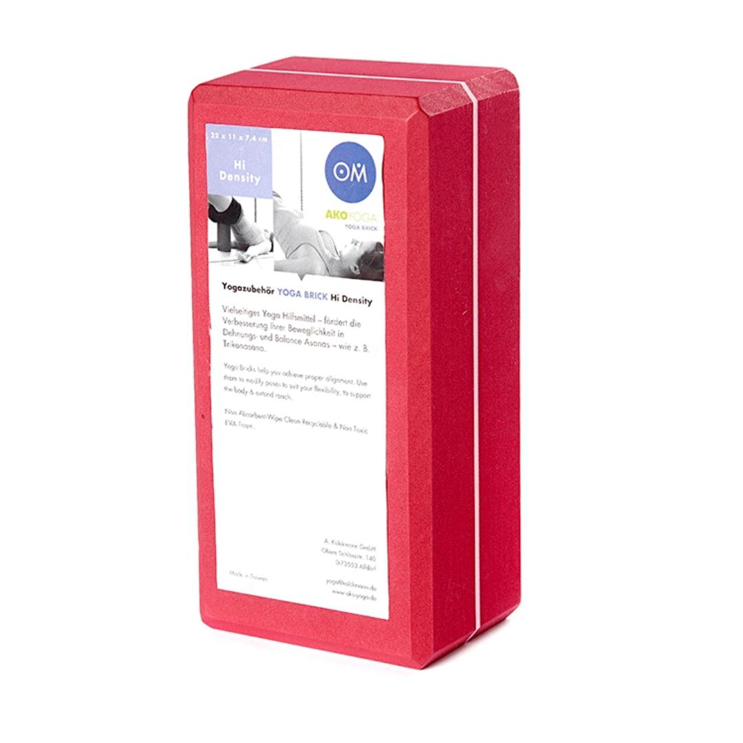для йоги из EVA-пены Yoga brick (0,3 кг, 7 см , 22 см, красный, 11 см)