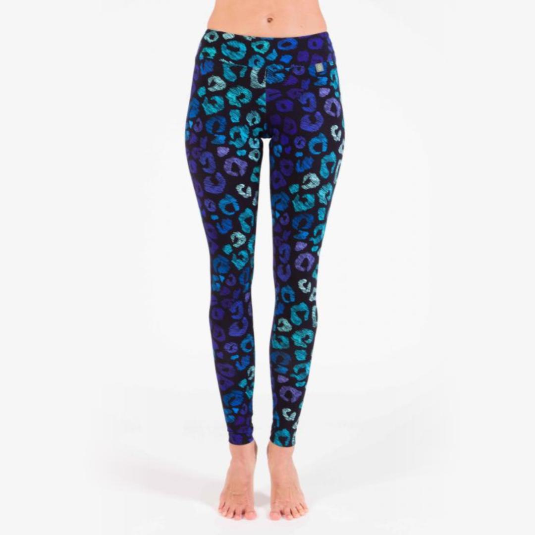 лучшая цена Леггинсы женские Night jungle YogaDress (0,3 кг, M (46), синий)