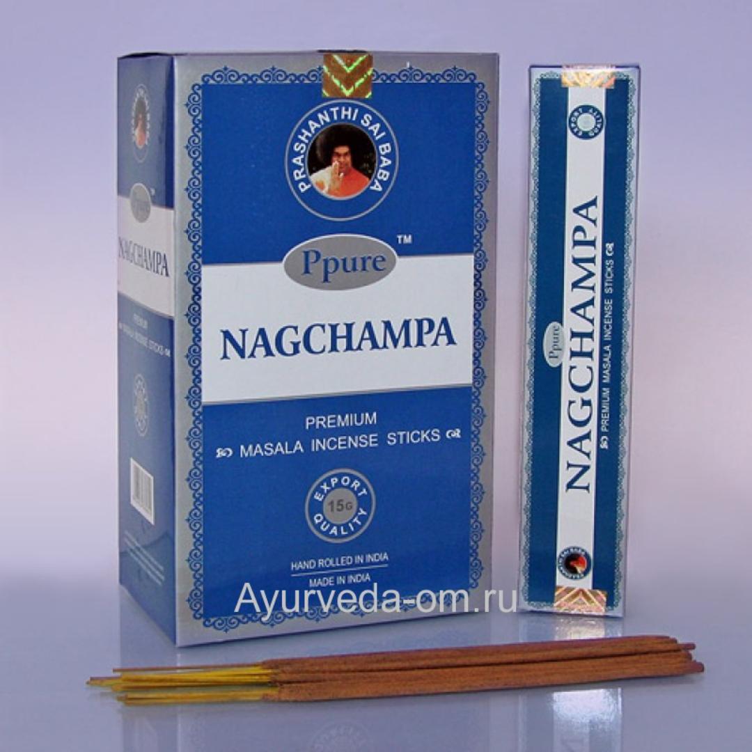 Благовония синяя нагчампа blue silver nagchampa Ppure  (15 г)