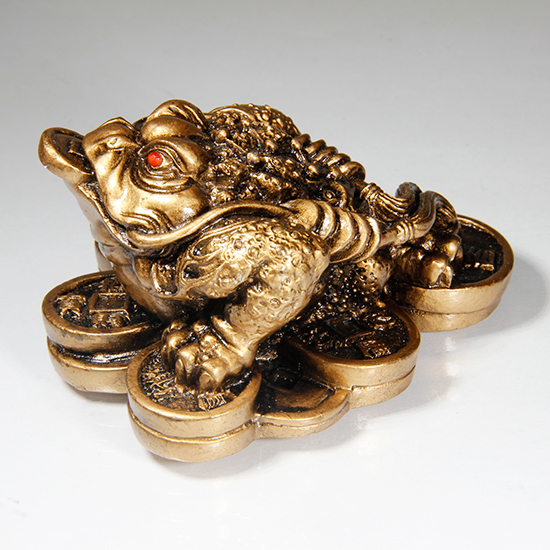 Фигурка жаба богатства с монеткой во рту 3,5 х 7см (0.1 кг)