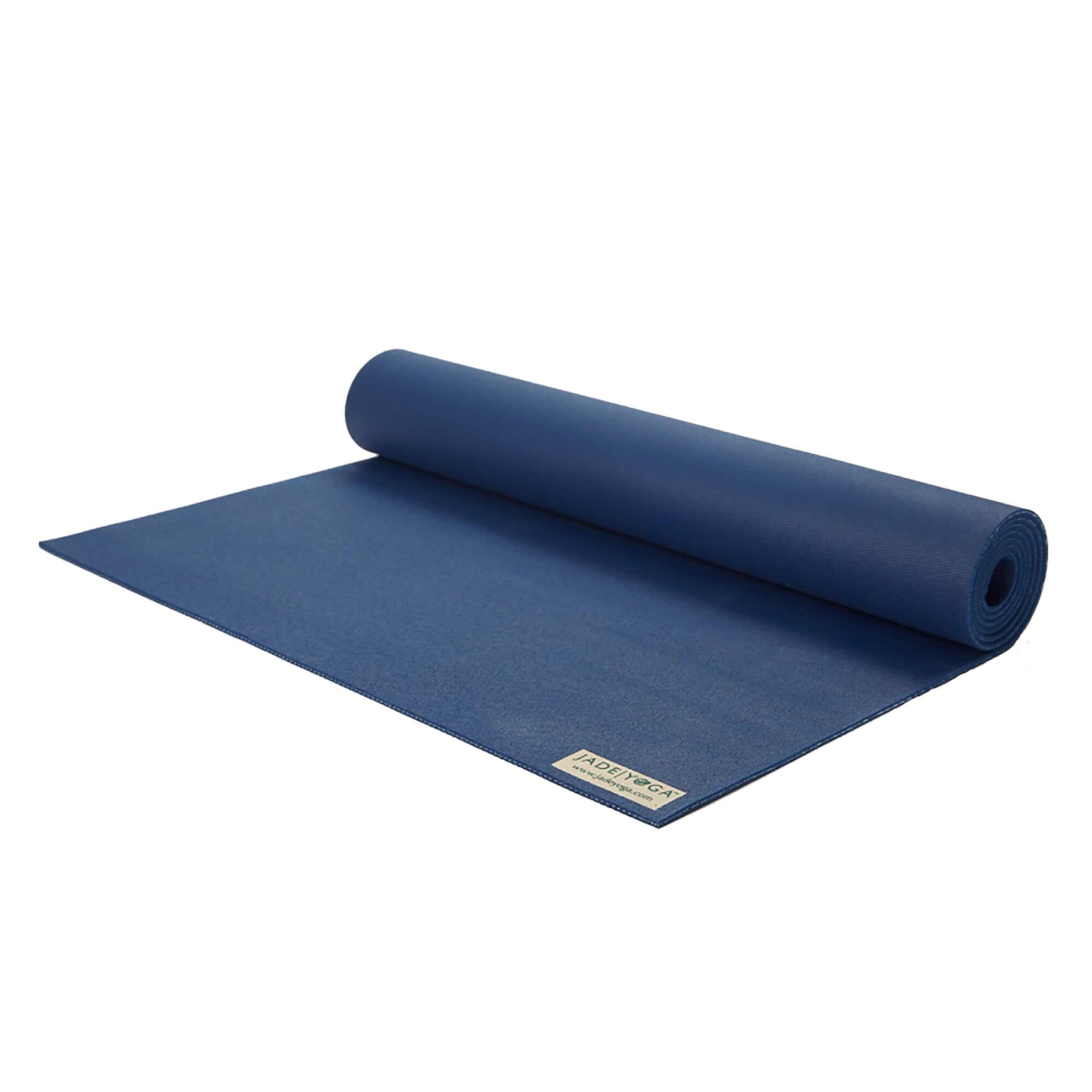 Коврик для йоги Jade Travel 3 мм из каучука (1.4 кг, 173 см, 3 мм, темно-синий, 60 см) цена
