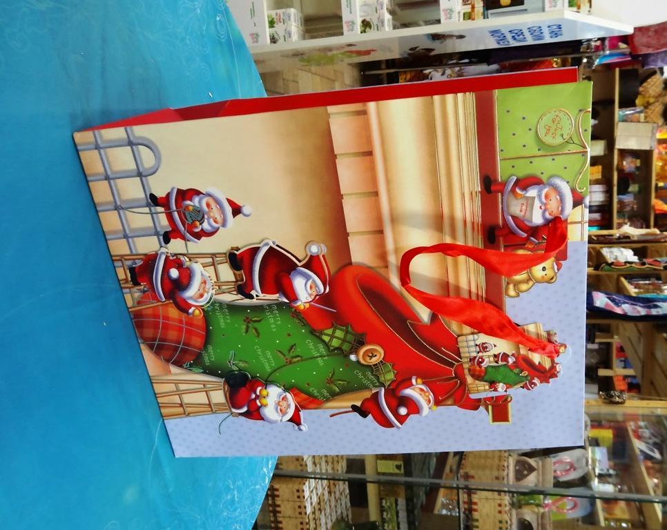 Пакет бумажный подарочный Новогодний в ассортименте 32 и 45 см