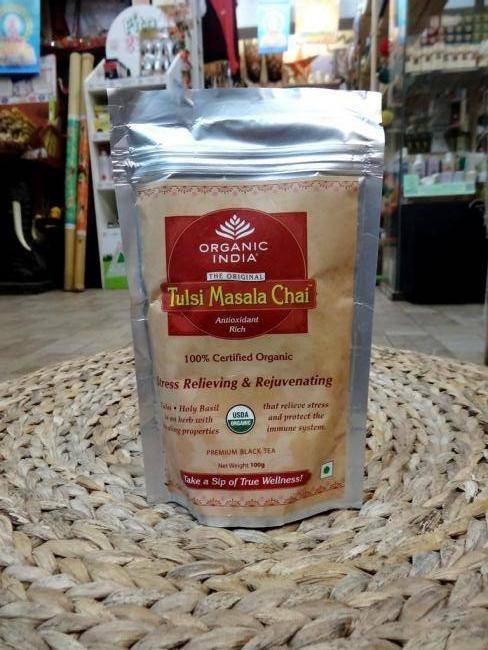 Чай в пакете Туласи Масала Tulsi masala tea Organic India (100 г)