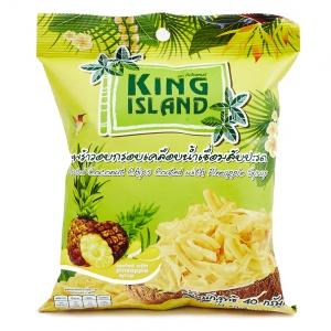 Кокосовые чипсы с ананасом King Island (40 г)