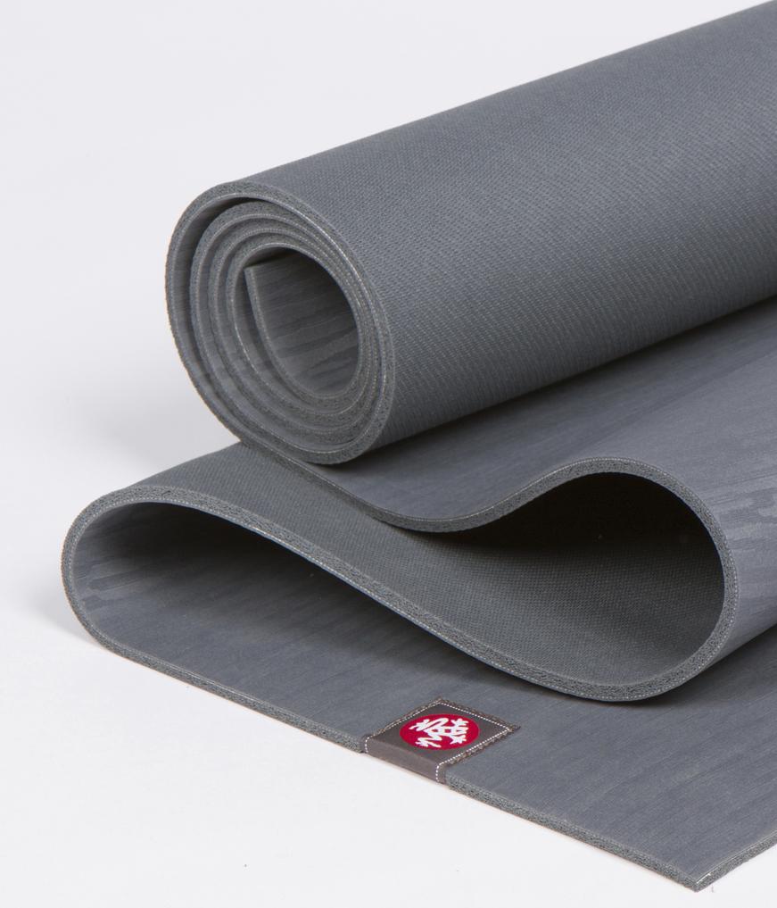 Коврик для йоги Manduka EKO Lite Mat 3мм из каучука (1.8 кг, 180 см, 3 мм, серый, 61см (Thunder))
