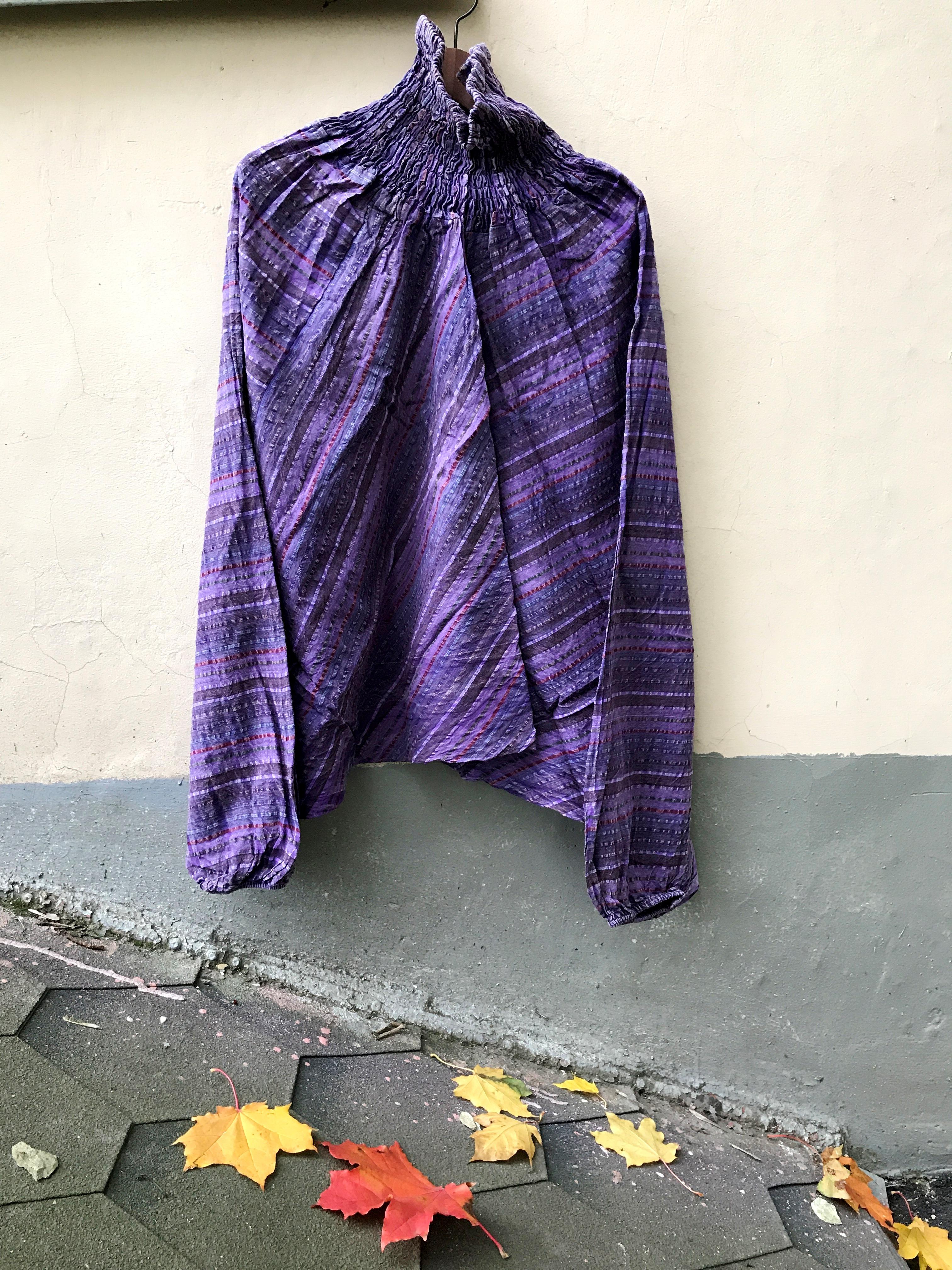Афгани хлопок в полоску в ассортименте (OS (42-46), фиолетовый)
