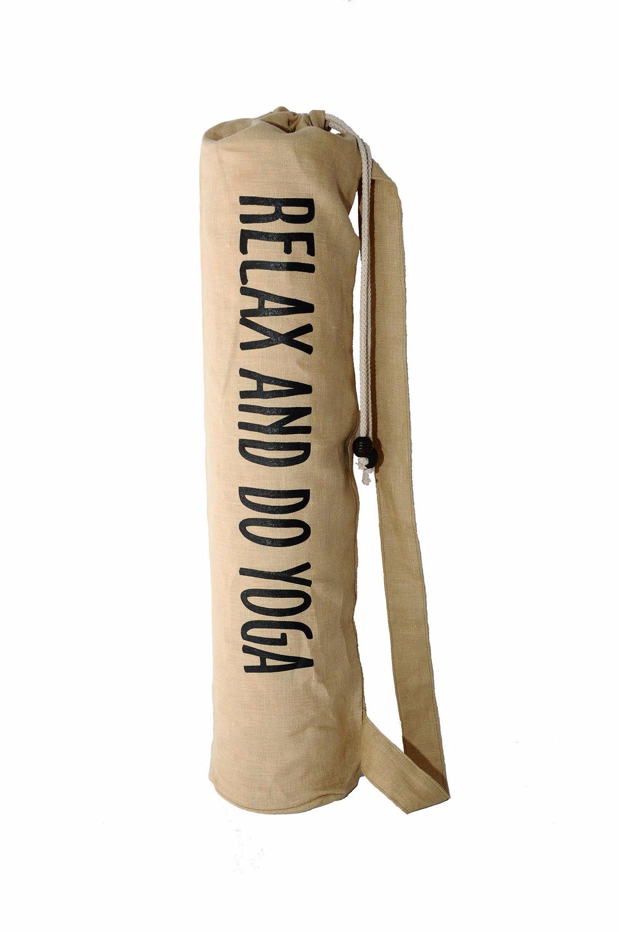 Чехол для коврика Do Yoga льняной (15 см, 70 см, бежевый)