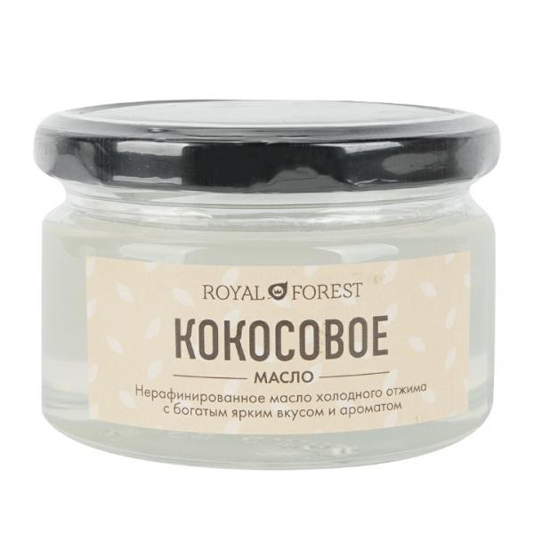 Кокосовое масло нерафинированное холодного отжима Royal Forest тайское кокосовое масло для волос