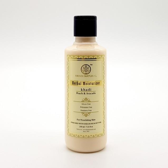 Лосьон для тела персик авокадо без sls Khadi Natural (210 мл) масло зародышей пшеницы масло 100мл