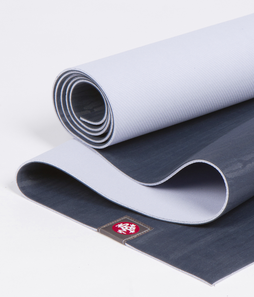 Коврик для йоги Manduka EKO Lite Mat 3мм (1.8 кг, 180 см, 3 мм, темно-синий, 61см (Midnight))
