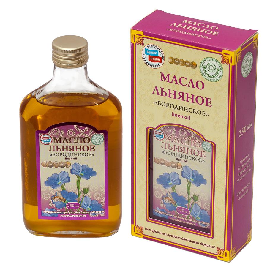 Льняное масло 250 мл Бородинское (250 мл) масла душистый мир масло shineway 250 мл