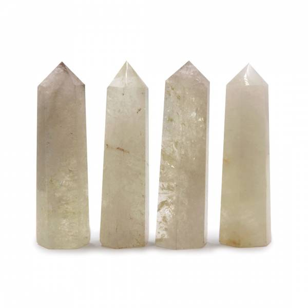 Кристалл камень лимонный кварц 8см (0,05 кг)