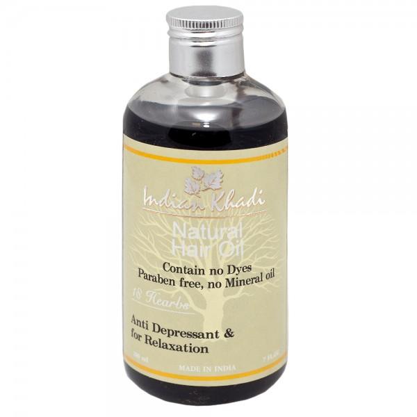 Масло для волос 18 трав Indian Khadi (200 мл) несмываемое масло для волос