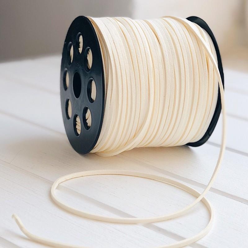 Замшевый шнур для подвесок (0,05 кг, бежевый)