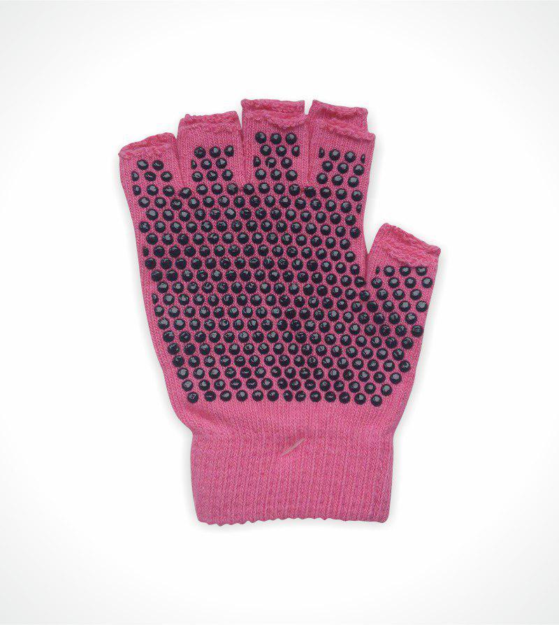 Перчатки для йоги антислип Health Рамайога (малиновый)