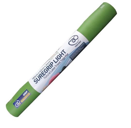 Коврик для йоги YogaMad SuperGrip Travel 2мм из каучука (1 кг, 185 см, 2 мм, зеленый, 60см)