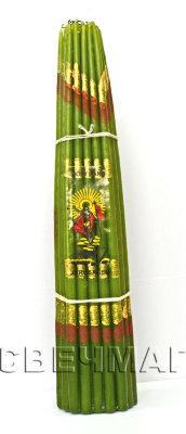 Свеча иерусалимская зеленая парафиновая 26 см (0.2 кг, 25 см, зеленый) трикоптер от винта на радиоуправлении fly y6 4 канала гироскоп 87228