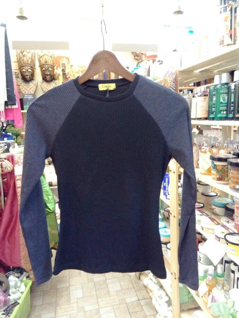 Пуловер Bicolor двухцветный из органического хлопка Chillife.