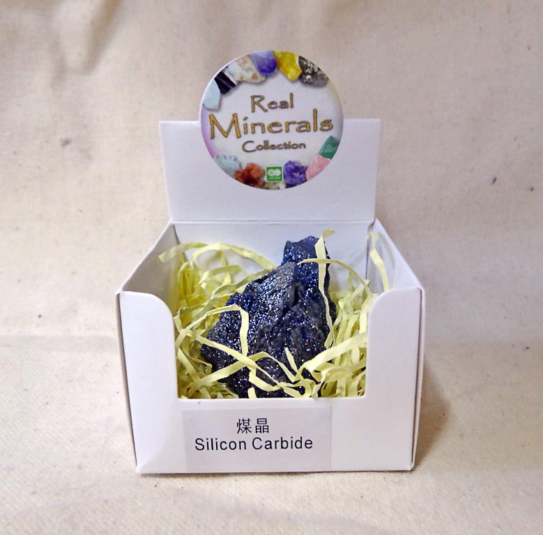Карбид Кремния минерал/камень в коробочке Real Minerals Collection турмалин минерал камень в коробочке real minerals collection