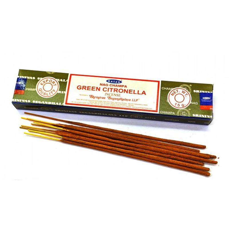 Благовония Зеленая цитронелла Сатья серия incense / Green Citronella Satya (15 г)