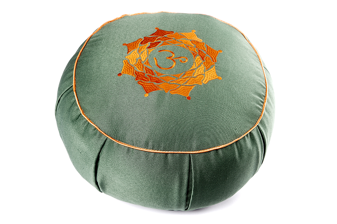 Подушка для медитации Ом (2 кг, зеленый) подушка для медитации spiritual