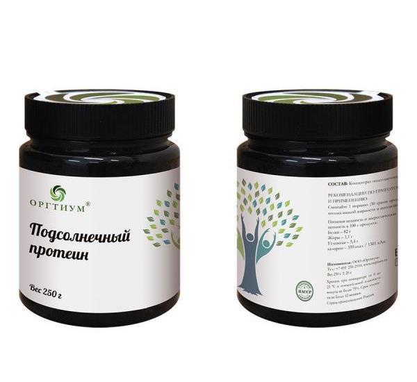Подсолнечный протеин Оргтиум 250 г (250 г)