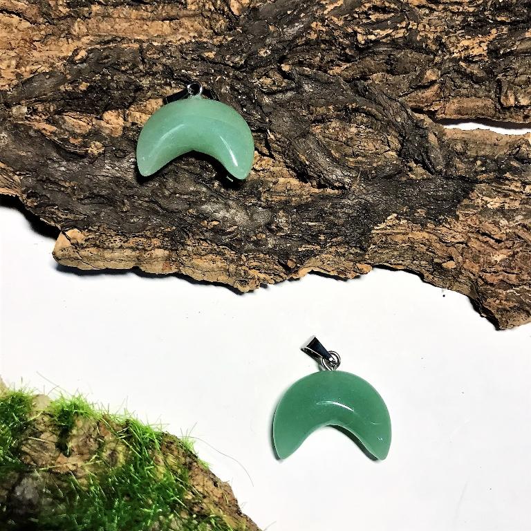 Нефрит лунница подвеска (5 г, 2 см) стоимость