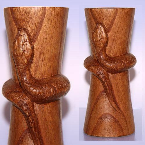Подсвечник из дерева Змея (14 см)