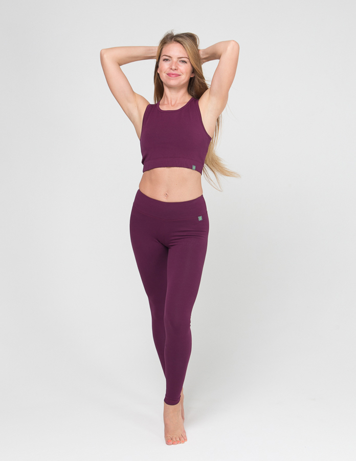 Женские тайтсы Miss Incredible YogaDress (0,3 кг, XS (40-42), фиолетовый  сливовый)